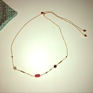 Kendra Scott Maddie Rose Gold Bolo Necklace